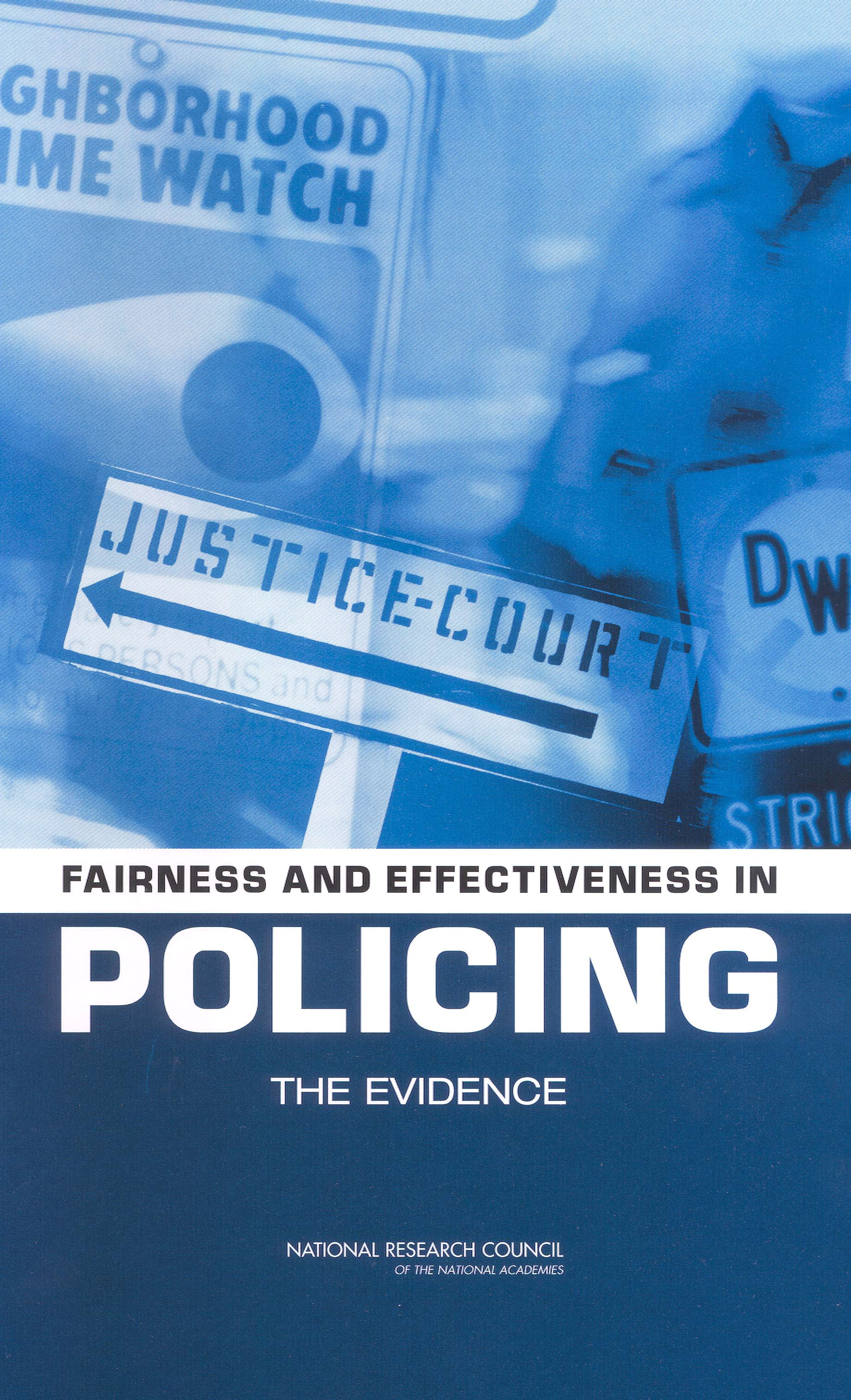 Policing report cover