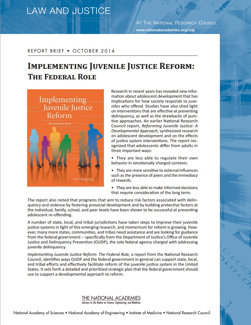 JJ Reform report brief