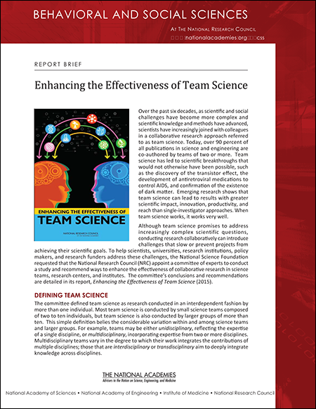 Team Science Brief cover