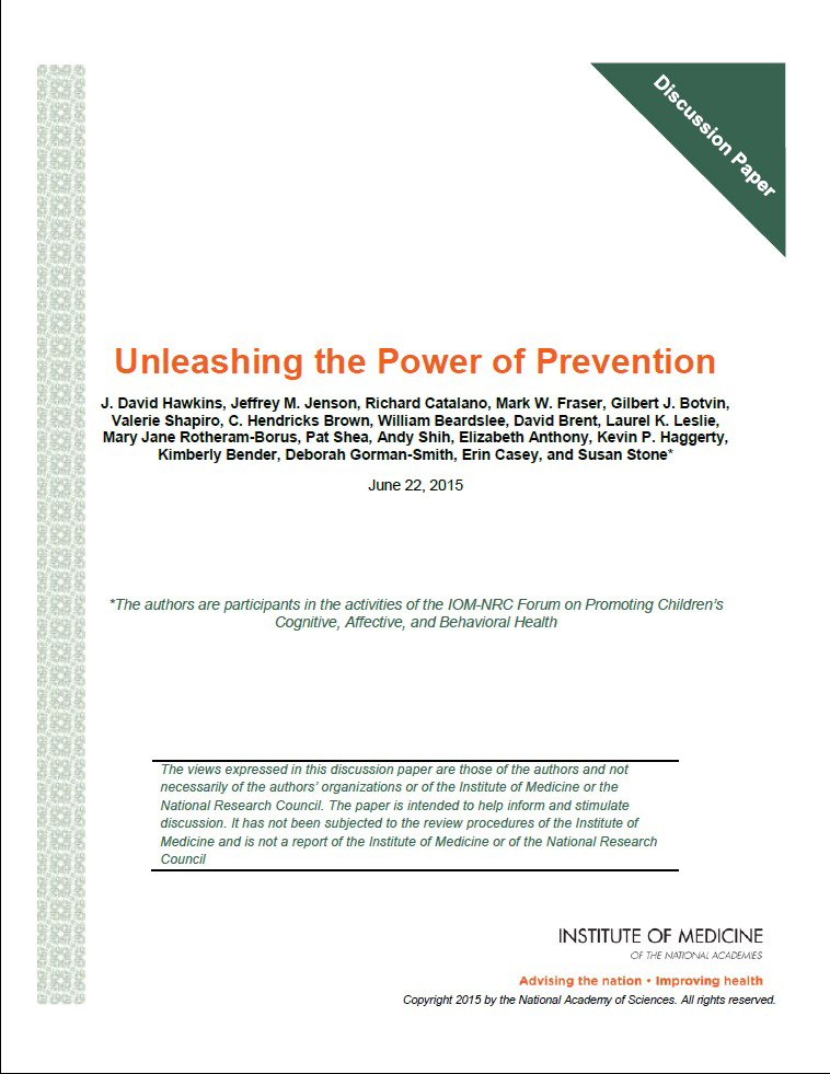 power of prevention discussion