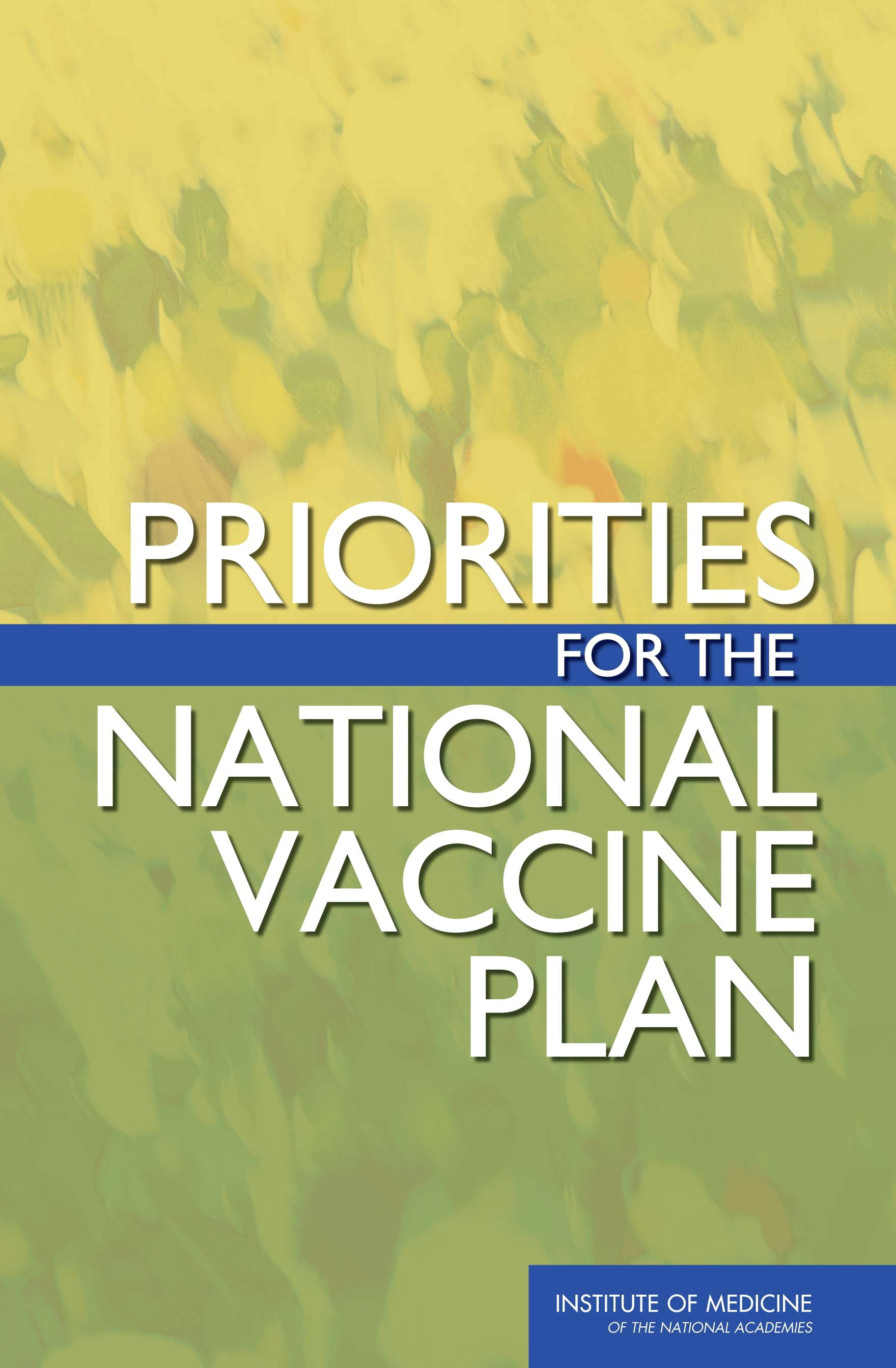 Priorities for the National Vaccine Plan Report Cover