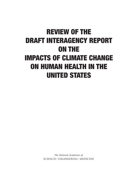 Draft Interagency Report on the Impacts of Climate Change Report Cover