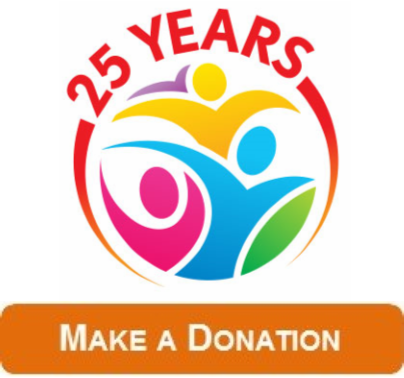 Donation 25 Years Button