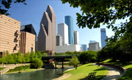 Houston with waterway