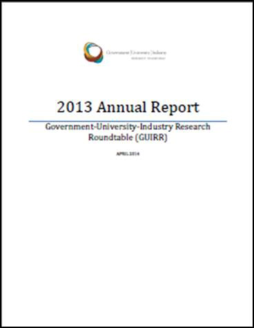 GUIRR 2013 Annual Report