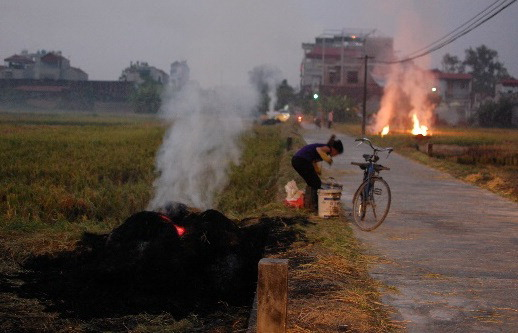 1-243 Rice straw burning