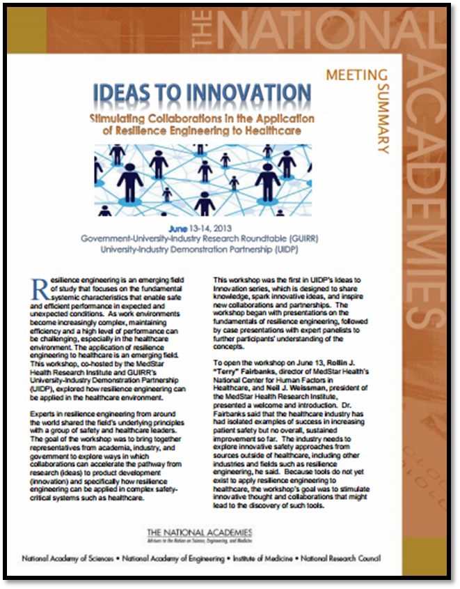 Ideas to Innovation Healthcare Resilliance