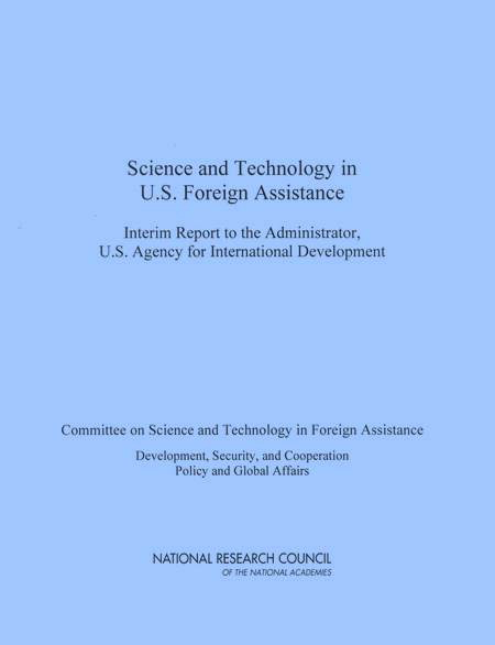 Science And Technology Policy Reports Report Cover Sciences  Technology Foreign