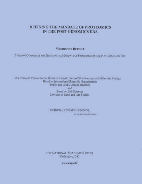 Report Cover: Defining Mandate (Proteomics)