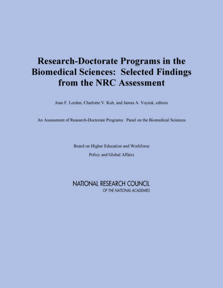 Report Cover: Research Doctorate Programs