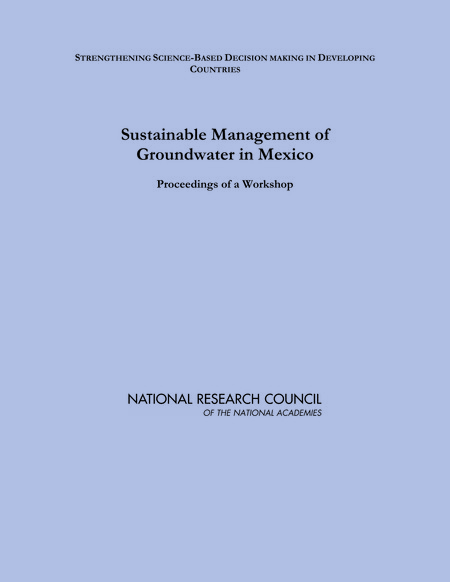 Report Cover: Sustainable Management of Groundwater