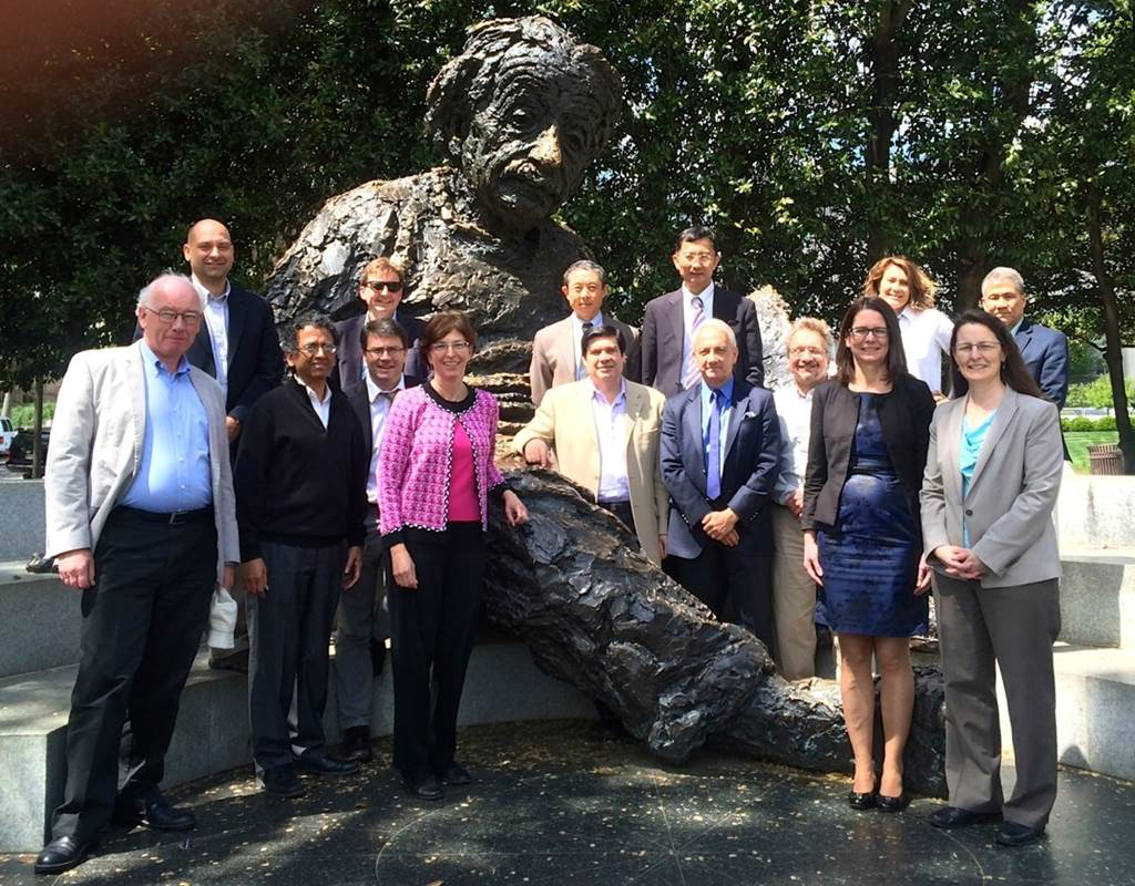 TAM Members with Einstein Statue 2015
