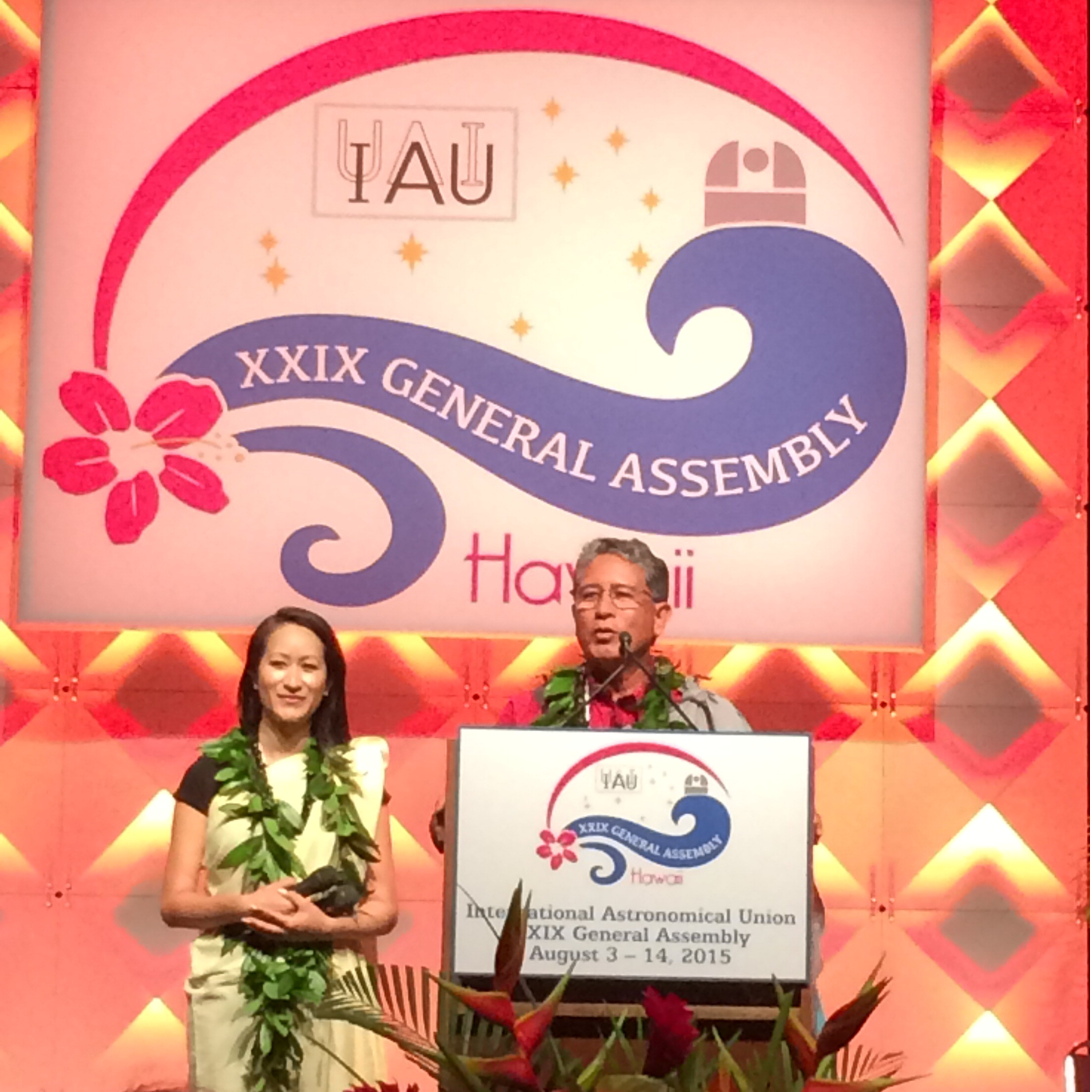 David Ige, Governor of Hawaii, at the IAU Opening Ceremony