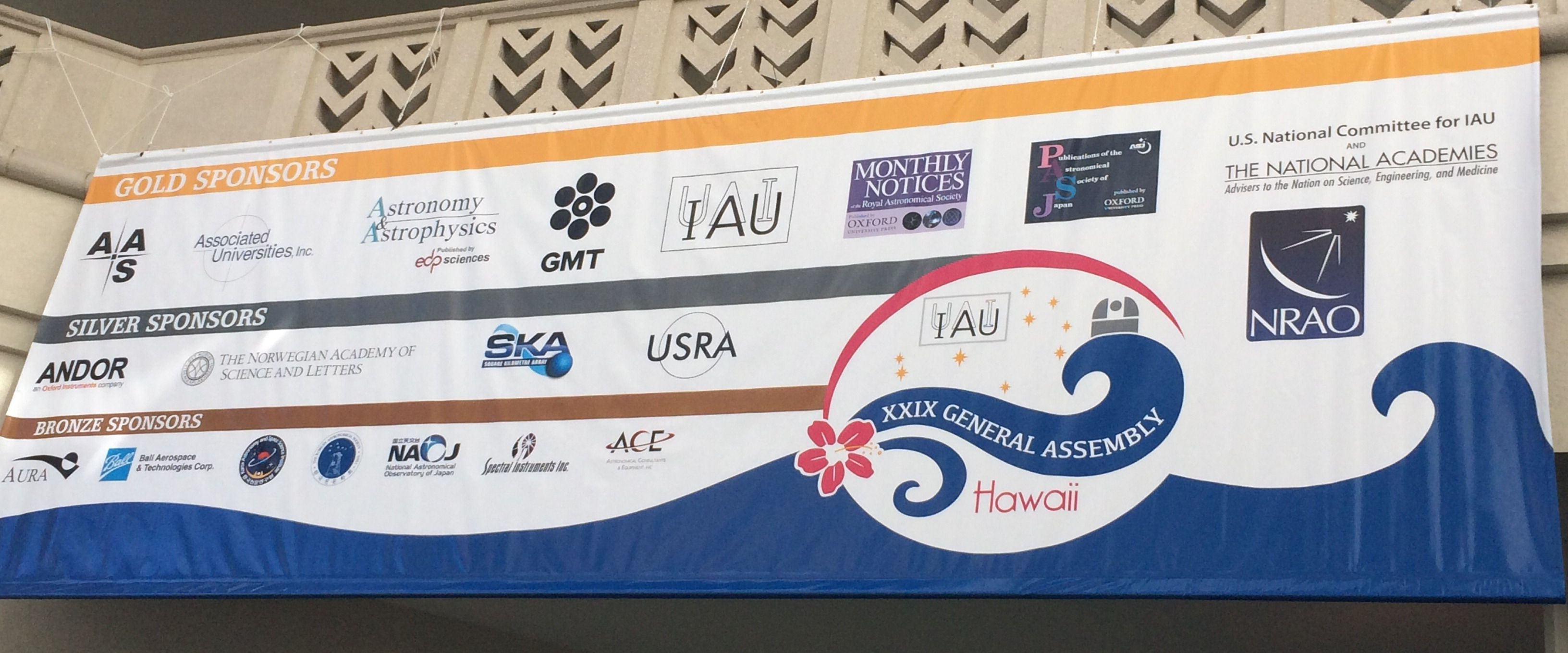 IAU General Assembly Sponsors Banner