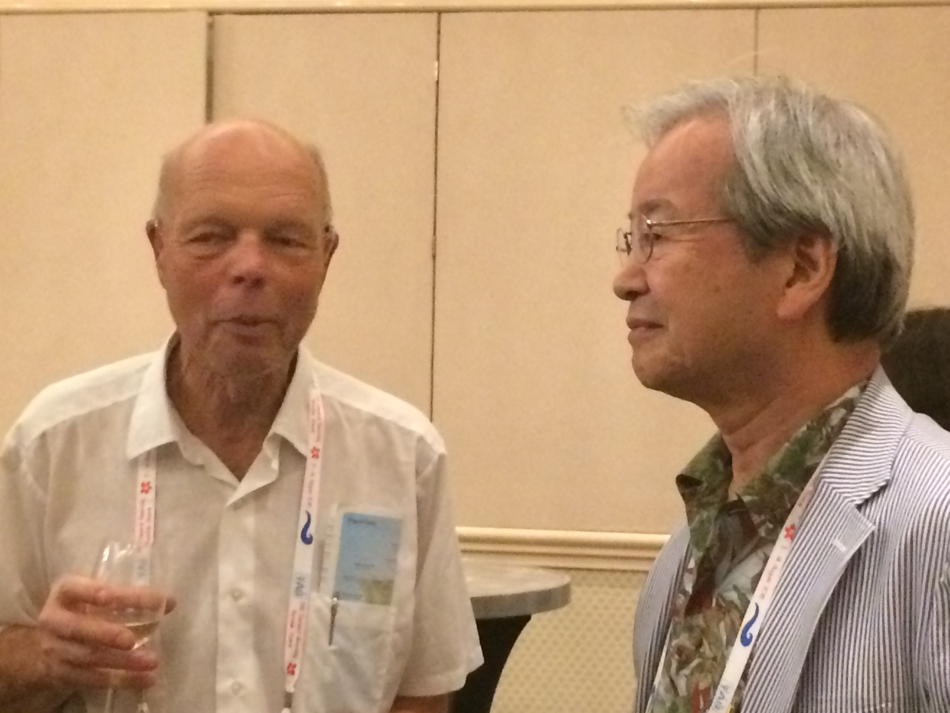 Johannes Andersen and Nario Kaifu at the U.S. Reception