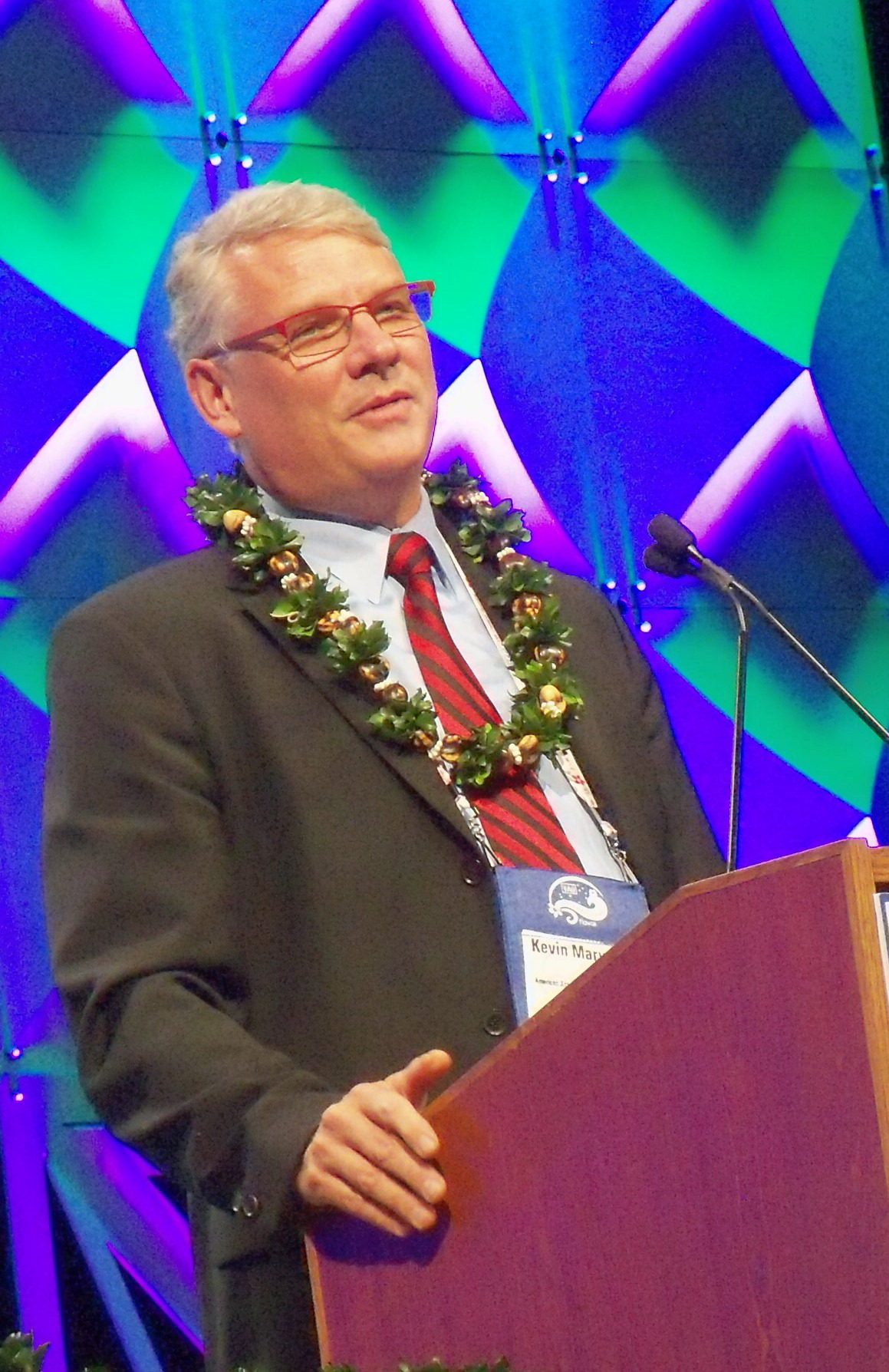 Kevin Marvel, AAS Executive Officer at the IAU Closing Ceremony