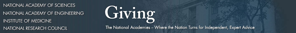 Giving to the National Academies